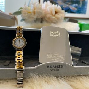Authentic Hermès clipper watch